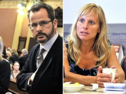Todd Courser, R-Lapeer, and Cindy Gamrat, R-Plainwell - Busted for adultery using their office to cover it up. What morons!